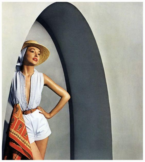 Model Natalie Paine; picture for Harper's Bazaar by Louise Dahl-Wolfe; Tunisia, June 1950